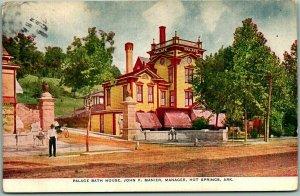 1910 Hot Springs, Arkansas Postcard PALACE BATH HOUSE, John F. Manier Mgr.