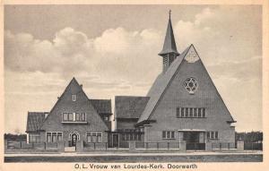 Doorworth Netherlands Lourdeskerk Exterior View Antique Postcard J75140