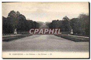 Old Postcard Compiegne Chateau La Lawn