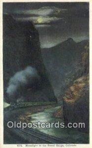 Royal Gorge By Night, Colorado, CO USA Trains, Railroads Postcard Post Card O...