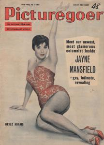Picturegoer Jayne Mansfield Alec Guiness James Cagney 1957 Magazine