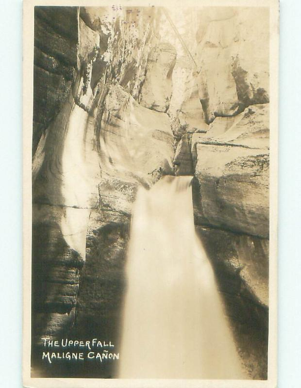1930's rppc NICE VIEW Maligne Canyon In Jasper Park Alberta AB W0980