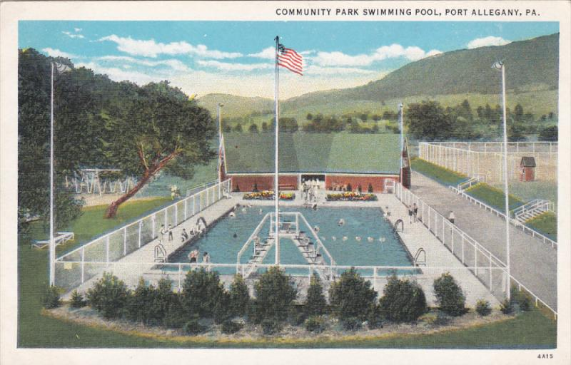 PORT ALLEGANY, Pennsylvania, 1900-1910's; Community Park Swimming Pool