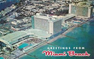 Florida Miami Beach Greetings Birds Eye View