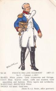 French 30th Line Regiment Colonel Napoleonic War PB Uniform Postcard
