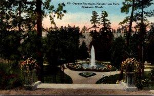 Washington Spokane Natatorium Park Geyser Fountain