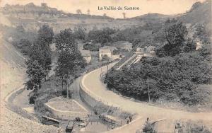 France La Vallee du Samson Village General view Valley Bridge