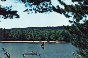 North Waterford, Maine/ME Postcard,Papoose Pond Camping Area