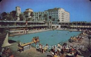 Hollywood Beach Hotel, FL, USA Motel Hotel Postcard Post Card Old Vintage Ant...