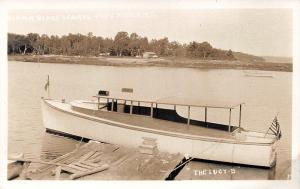Cape Rosier ME The Lucy-B Ferry Boat Hiram Blake's Camps RPPC Postcard