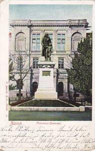 Zurich, Pestalozzi - Denkmal, Switzerland, PU-1903