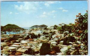 ST. THOMAS  Virgin Islands   Fairyland Town  CHARLOTTE AMALIE  Birdseye Postcard