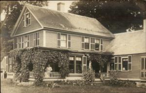 Beautiful Home - Alstead in Message - NH? c1910 Real Photo Postcard