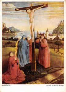 Art: Konrad Witz: Christus am Kreuz, F.A. Ackermanns, Muenchen, Museum