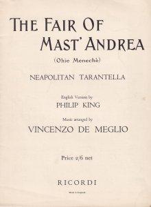 The Fair Of Mast Andrea Neapolitan Tarantella Vicenzo De Meglio Olde Sheet Music