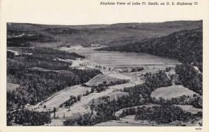 Aerial View of Lake Fort Smith - U.S. Highway 71 - Arkansas