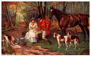 Dog  Following The Hunt  ( Fox Hunt )