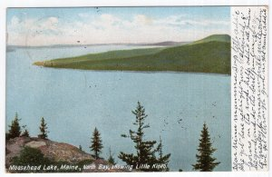 Moosehead Lake, Maine, North Bay, showing Little Kineo