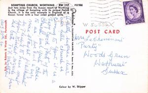 Postcard SOMPTING Church, Worthing, Sussex #S