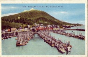 FISHING FLEET AND DEER MT., KETCHIKAN, AK 1949