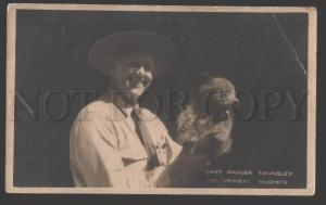 115808 USA YOSEMITE Chief Ranger Townsley BEAR old PHOTO RARE