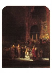 Art Postcard, The Woman taken in Adultry by Rembrandt DH7