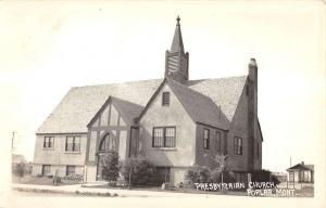 Poplar Montana Presbyterian Church Real Photo Antique Postcard K16308