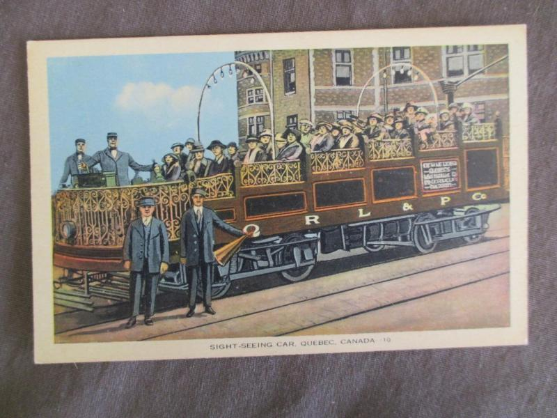 Early 1900s Canada Picture Postcard - Quebec Sight Seeing Car (TT127)