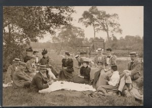 Social History Postcard-English Scenes Early 1900's, Picnic in The Country T7543