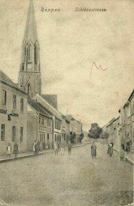 poland germany, REPPEN RZEPIN, Schlossstrasse (1910s) Postcard