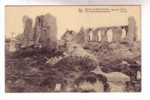 WWI Ruins,  Church, Ramscapelle Belgium