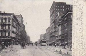 Washington St., East from Meridian St., Indianapolis, Indiana, PU-1907