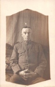 Chattanooga Tennessee Infantry Soldier Miltary Real Photo Postcard AA8257