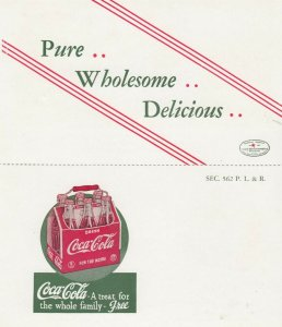 FRANKFORT , Indiana, 1930-40s ; Bi-fold Coca-Cola Bottling Company Ad Postcard