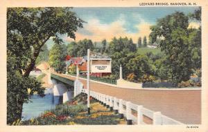 HANOVER, NH New Hampshire  LEDYARD BRIDGE Grafton County  c1940's Linen Postcard