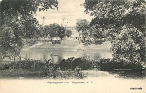1906 BINGHAMTON NEW YORK Washingtoniam Hall Rochester postcard 437