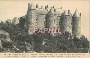 Postcard Old Luynes Indre et Loire Chateau built in the XV XVI