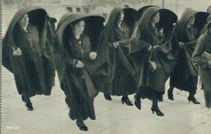 Malta Maltese Women Wearing Silk Faldettas 05.34