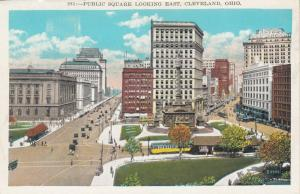 CLEVELAND , Ohio , 1910s : Public Square , looking East