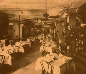 Kolb's Restaurante Principal Room Int Nuevo Orleans Luisina. 1938 Tarjeta Postal