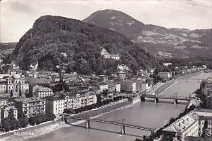 RP, Bird's Eye View, Bridges, Salzburg, Austria, 1920-1940s