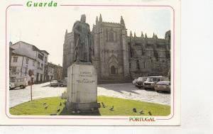BF29994 guarda portugal estatua de d sancho I e se catedral  front/back image