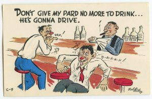 Postcard Don't Give My Pard No More To Drink He's Gonna Drive Standard View Card