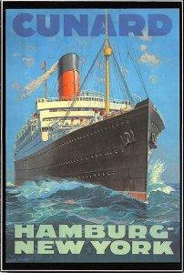 Lancastria Cunard Line & Interior Vies Ship Unused