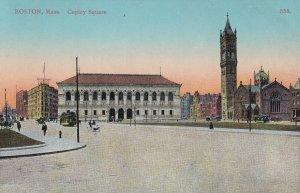 BOSTON, Massachusetts, 1900-1910's; Copley Square