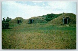 Mandan North Dakota~Fort Lincoln State Park~Indian Village Hobbit Huts~1950s
