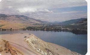 Panorama of Kalamalka Lake, Coldstream Orchards, Monashee Mountains, Vernon, ...