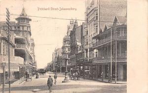 South Africa Pritchard Street-Johannesburg, bicycle, carriages, animated 1907