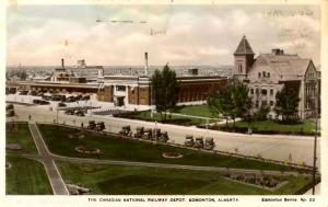 Canada - Alberta, Edmonton. Canadian National Rwy Depot   *RPPC