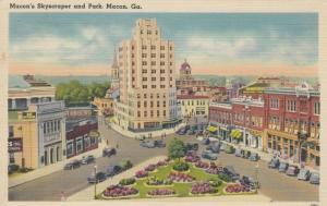 MACON , Georgia , 30-40s ; Macon's Skyscraper and Park